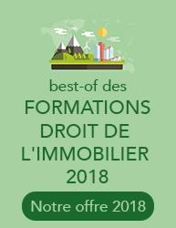 Best of des formations Droit Immobilier et Environnement 2016